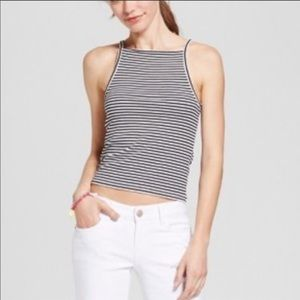 Mossimo Striped Crop Top🖤🤍